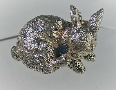 "Faro Lucchesi 1 3/4"" Sterling Silver Bunny Rabbit Miniature Ornament Paperweight"