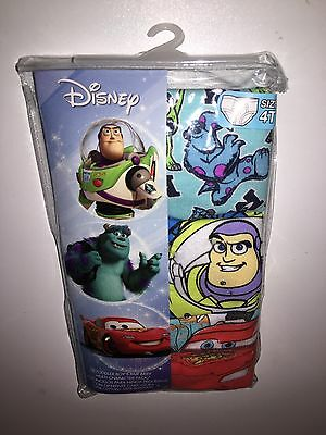 3 Pack Disney Cars Monsters And Toy Story Boys Briefs Underwear Size 4T