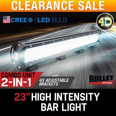 BULLET 4D CREE LED Driving Lights 23 inch 480W 4WD Flood Spotlights Offroad 4x4