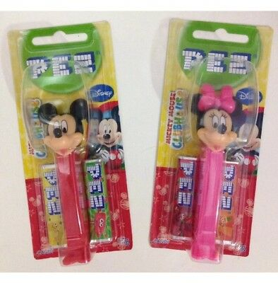 Set of 2 Disney Mickey & Minnie Mouse Pez BN