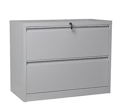 2 Drawer Lateral Filling Cabinet Home Office Factory Use Heavy Duty Storage