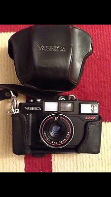 Yashica DX 38mm Vintage Film Camera With Flash