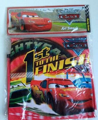 Disney Cars Water Resist Paint Art Smock Shirt 3+ BNWT