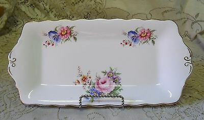 Queen Anne Floral Posy Sandwich Tray Dish Platter Made In England