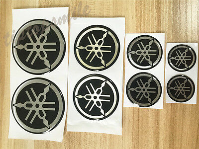 Motorcycle Fork Emblem Decal For Yamaha Tank Fairing Shield Badge Soft Stickers