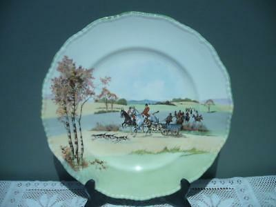 Vintage Royal Doulton Fox Hunting With Donkey Cart Cabinet Plate - Gc