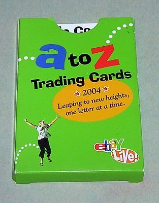 set of eBay LIVE! A-to-Z Trading Cards