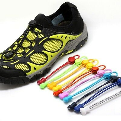 Easy No Tie Elastic Laces Lock Shoelaces Running Triathlon Sports Shoe Trainers