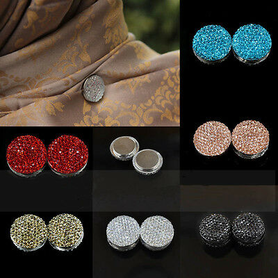 1pair Magnetic Hijab Pin Headscarf Abaya Clasp Brooch Shawl Magnet Scarf Pin New