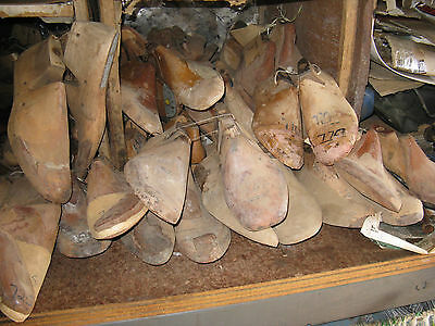 wooden mans used shoe lasts