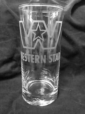 WESTERN STAR Etched Glasses