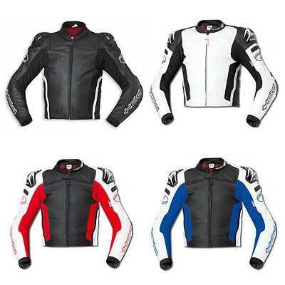 Held Safer Motorcycle Motorbike Mens Leather Sport Jacket All Colours & Sizes