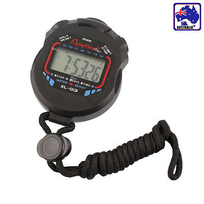 Digital Professional Handheld Stopwatch Chronograph Timer Sport Watch HCLOC 4567