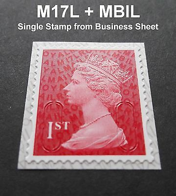 2017 1st Class M17L + MBIL MACHIN SINGLE STAMP from Business Sheets