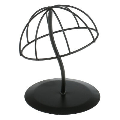 Black Durable Stable Iron Hat Cap Rack Wig Holder Storage Display Stand Tool