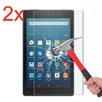 2x Gorilla Tempered Glass Screen Protector For Amazon Kindle Fire HD 8 (2017)
