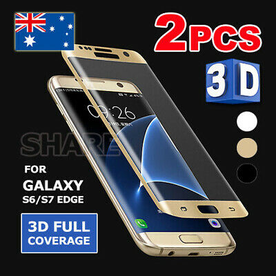 2X Full Screen Cover 3D Tempered Glass Protector For Samsung Galaxy S7 | S6 Edge