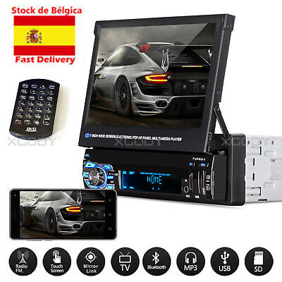 7'' 1 DIN HD Radio Coche Bluetooth PANTALLA USB/SD/AUX/FM Estéreo MP5/MP3 PLAYER