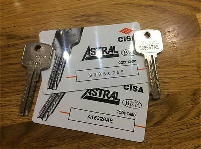 2x Cisa Astral Keys Cut To Code