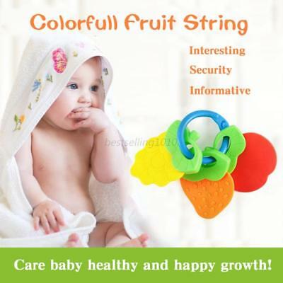 Safe Newborn Baby Teething Teether Toy Dental Free Natural Chew Training Tool