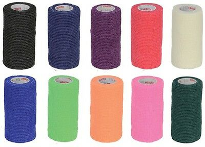 HyHealth Cohesive Bandage Veterinary Wrap - Vet Horse Vetwrap 4.5m 10 Colours!