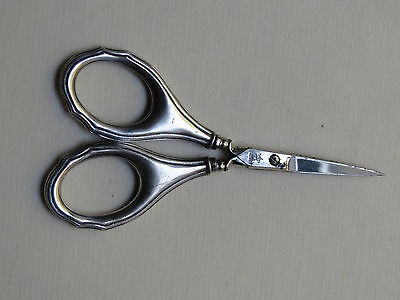 Antique 830 Silver Handle Sewing Scissors