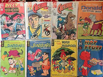 SILVER AGE COMIC LOT -  8 BOOKS FROM THE 1960s CHARLTON - GOLD KEY