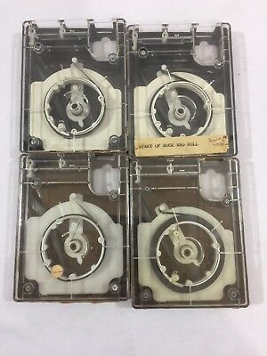 Lot Of Four Vintage Radio Station 4 Track Carts Tapes