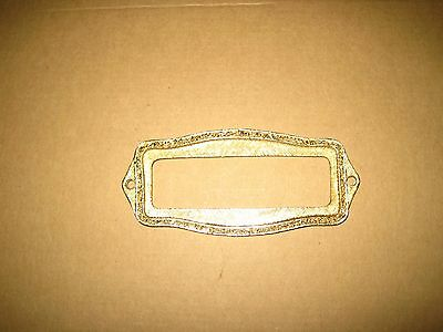 Vintage Gold tone Name Plate / Door Outdoor Family Name Plate