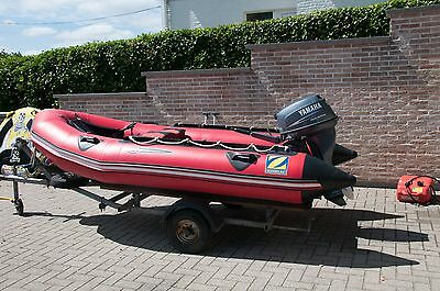 Zodiac inflatable futura Mk1 and 15hp Yamaha four stroke outboard