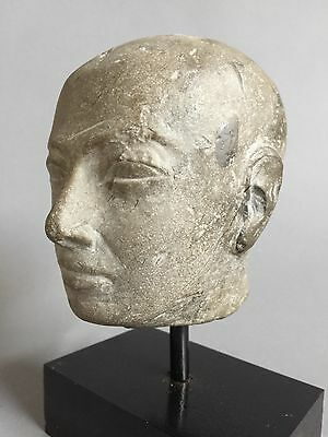 Ancient Egyptian stone head of a Priest 6th C BC