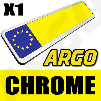 Single Chrome Effect Number Plate Holder Surround Car