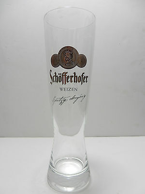 Schofferhofer Half Liter Weizen German Beer Glass Frankfurt Germany Brewery