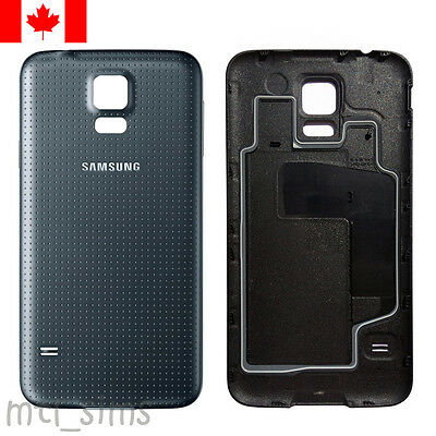 Samsung Galaxy S5 SM-G900w8 Back door cover OEM replacement Charcoal