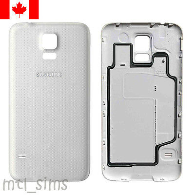 Samsung Galaxy S5 SM-G900w8 Back battery door cover OEM replacement White