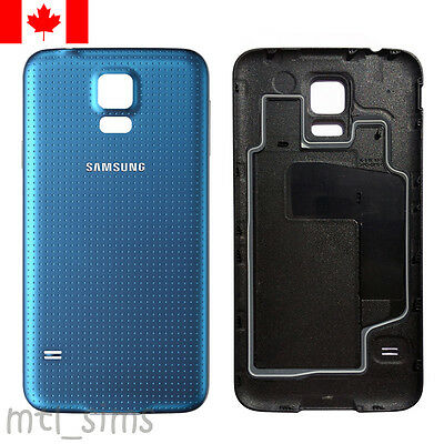 Samsung Galaxy S5 SM-G900w8 Back battery door cover OEM replacement Blue