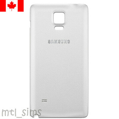 Samsung Galaxy Note 4 SM-N910W8 Back battery door cover OEM replacement White