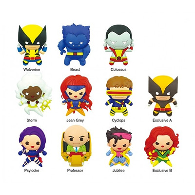 Marvel Comics 7cm 3D The X-Men Collection Figural Keychain/ Keyring By Monogram