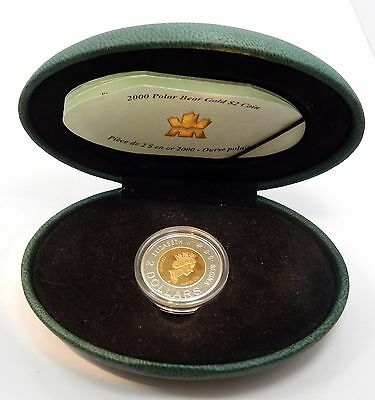 Canada, $2 Polar Bear 2000 22k Gold/Silver Commemorative KM #498 - Proof !!
