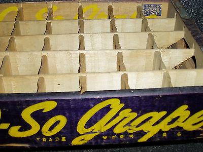 O-So Grape Soda Crate 1946 Wooden Soda Caddy