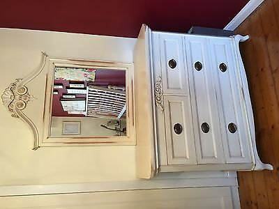Antique Style French Dressing Table and Mirror