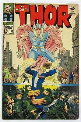 The Mighty Thor 138 March 1967 Jack Kirby Stan Lee  7.00 Fine
