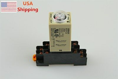 ONE SET 12VDC H3Y-2 Delay Timer Time Relay 0-60 Second 12VDC with Base
