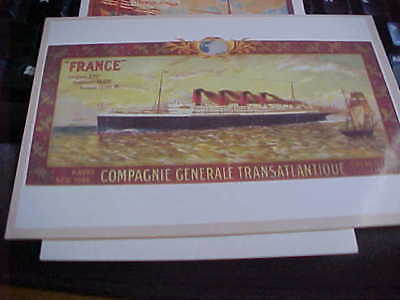 FRENCH LINE  Glory Days of  FRANCE, LORRAINE,  SAVOIE  PROVENCE Fleet Post Cards