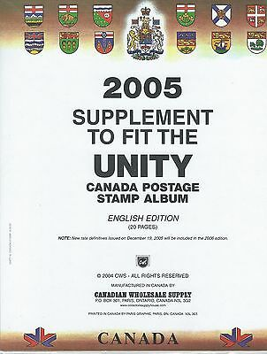 Unity Canada 2005 Stamp Supplement - Sealed - Retails For $32.95