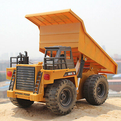 RC Toy 6 Channel 1/12 40Mhz Metal Dump Truck Remote Control RTR Alloy Vehicle