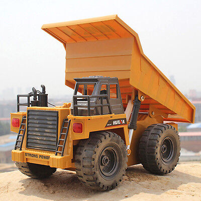 RC Toy 6 Channel 40Mhz Metal Dump Truck Remote Control RTR Alloy Vehicle