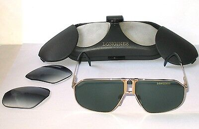 Longines Aviator by Metzer Real Vintage Sunglasses Occhiali 0153 Germany Rare