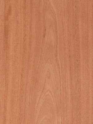 "Mahogany Wood Veneer Plain Sliced Paper Backer Backing 2' X 8' (24"" x 96"") Sheet"