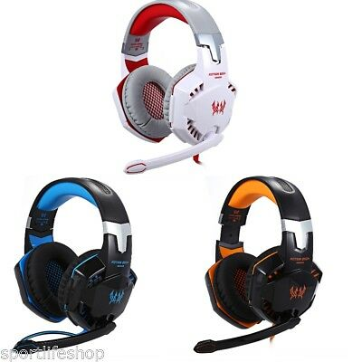 EACH G2000 Gaming Over-ear Wired Headset+Mic LED lights 3.5mm for Computers Game